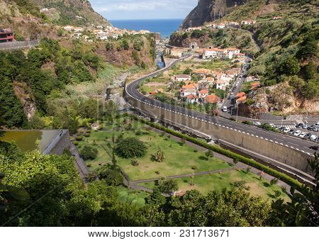 View Of The North Coast Around Sao Vincente, Madeira, Portugal,
