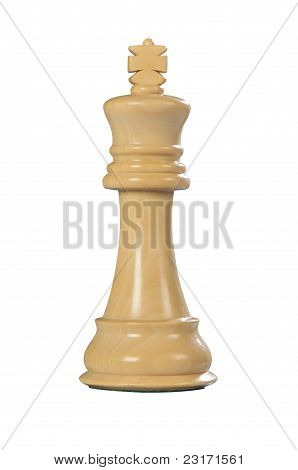 Wooden Chess: King (white)