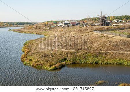 Old Windmill. The Museum Of Wooden Architecture In The Village Nizhnaya Sinyachikha Of Sverdlovsk Re