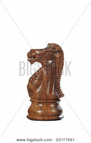 Wooden Chess: Horse (black)