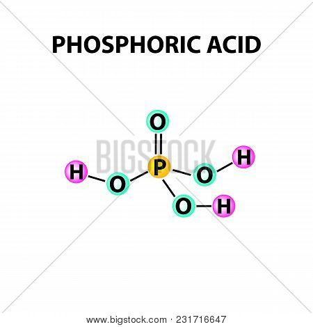 Orthophosphoric Acid. The Chemical Formula Of Phosphoric Acid. Infographics. Vector Illustration On