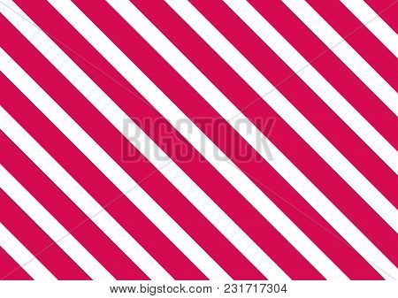Pink Stripes On White Background. Striped Diagonal Pattern Vector Illustration  Christmas Background