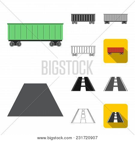 Logistics Service Cartoon, Black, Flat, Monochrome, Outline Icons In Set Collection For Design. Logi