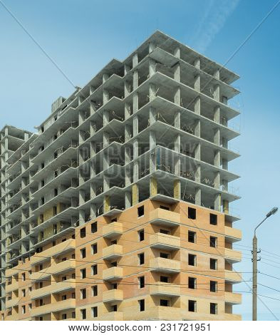 Construction Of A Residential Multi-storey Building In A New Residential Area