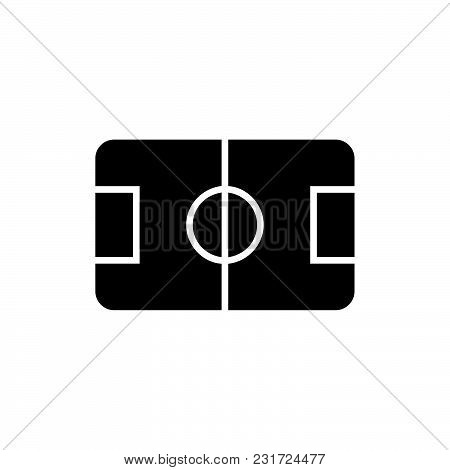 Soccer Field Icon Isolated On White Background. Soccer Field Icon Modern Symbol For Graphic And Web