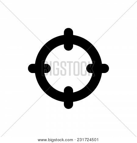 Target Icon Isolated On White Background. Target Icon Modern Symbol For Graphic And Web Design. Targ