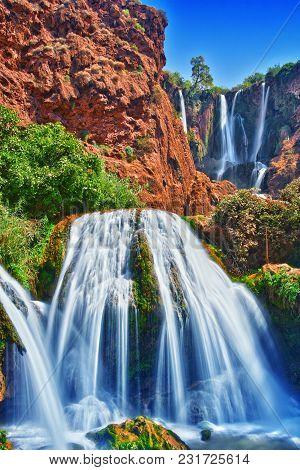 Ouzoud Falls Near The Grand Atlas Village Of Tanaghmeilt Morocco