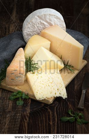 Cheeses With Basil And Rosemary.