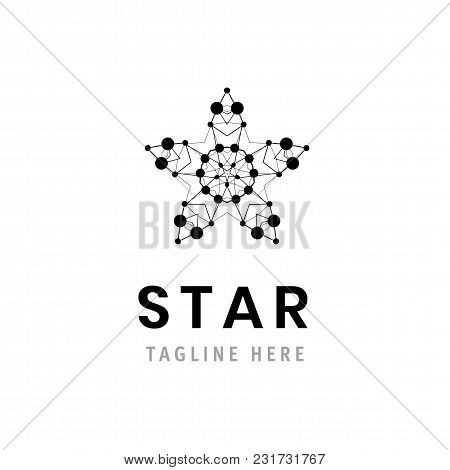 Star Logo Template Illustration. Vector Company Symbol Design. Business Branding Element. Corporate