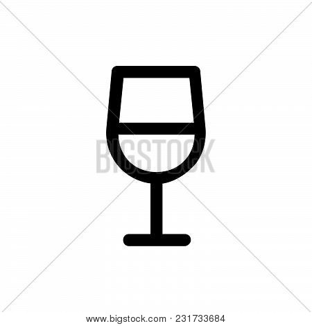 Wine Glass Icon Isolated On White Background. Wine Glass Icon Modern Symbol For Graphic And Web Desi