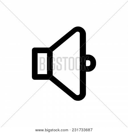 Sound Icon Isolated On White Background. Sound Icon Modern Symbol For Graphic And Web Design. Sound
