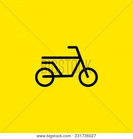 Line Icon Of Bicycle Sign. Bicycle Race, Bicycle Trail, Bike Hire. Transport Concept. Can Be Used Fo