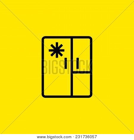 Icon Of Big Refrigerator. Fridge Freezer, Ice, Equipment. Household Appliance Concept. Can Be Used F