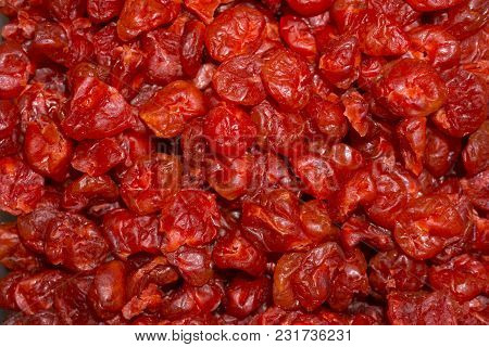 Background - Dried Cherry Pitted Close Up