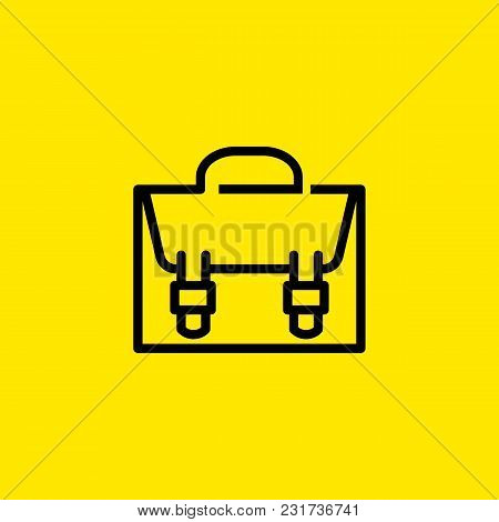 Icon Of Briefcase. Portfolio, Suitcase, Bag. Business Concept. Can Be Used For Topics Like Business,