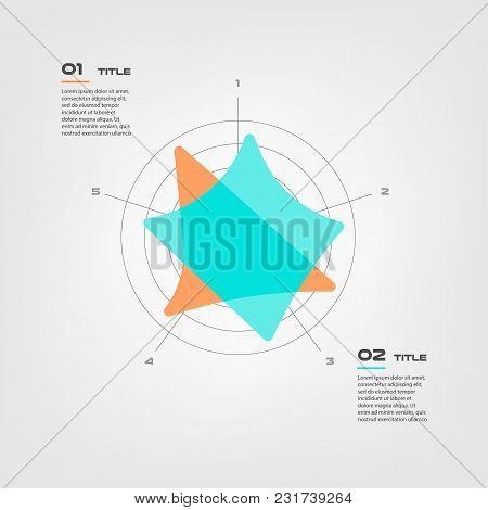 Radar Diagram Elements Color Infographics. Some Of Chart, Graph, Parts, Processes. Vector Business T