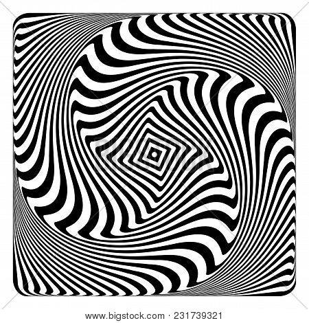 Op Art Pattern. Abstract Design. Vector Illustration.