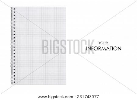 White Notepad Pattern On White Background Isolation