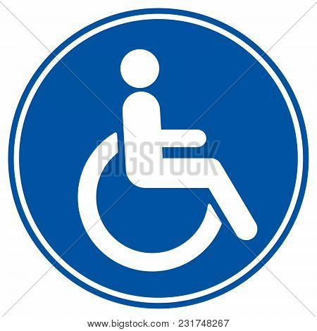 Disabled Wheelchair Icon, Isolated On White. Disable Symbol Logo, Vector