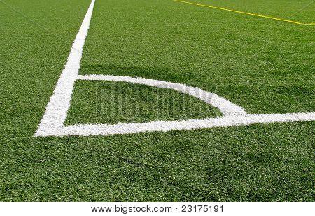 Ecke auf Fußballplatz