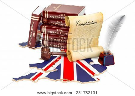 Constitution Of The United Kingdom Concept, 3d Rendering