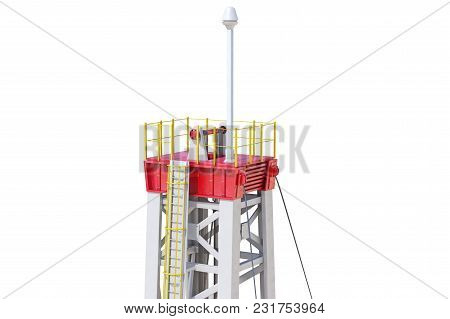 Land Rig Technology Derrick, Close View. 3d Rendering