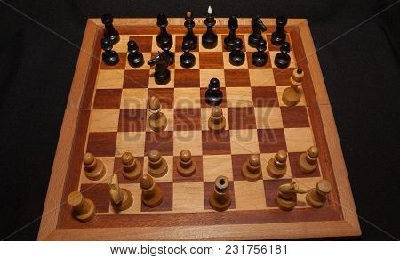 Abstract Composition Of Chess Figures. Isolated On Black Background,children's Mat