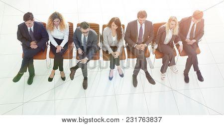 modern business team using their smart phones.