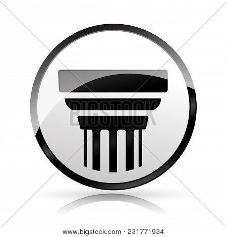 Illustration Of Pillar Icon On White Background