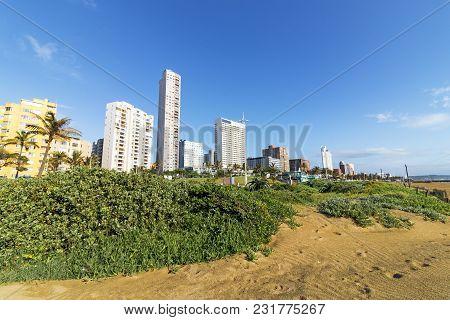 Coastal City Landscape In Durban South Africa