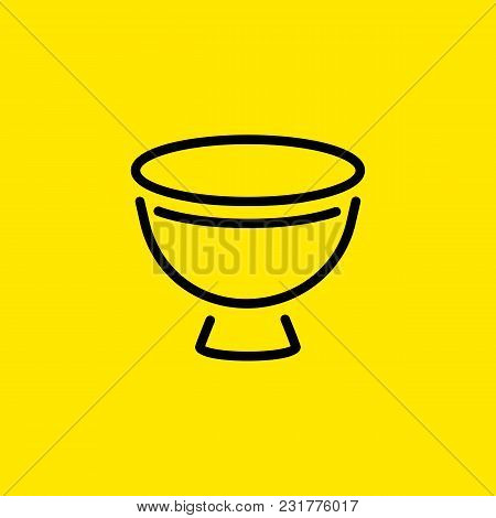 Line Icon Of Eggcup. Utensil, Crockery, Dishware. Kitchenware Concept. Can Be Used For Topics Like B