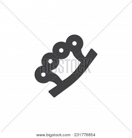 Brass Knuckles Vector Icon. Filled Flat Sign For Mobile Concept And Web Design. Knuckle-duster Simpl