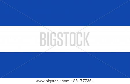 Civil Flag Of Salvador In Official Colors And Proportions, Vector Image