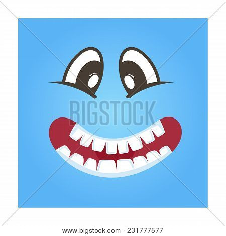 Playful Smiley Face Icon. Funny Facial Expression Emoji, Cute Comic Emoticon Isolated Illustration.
