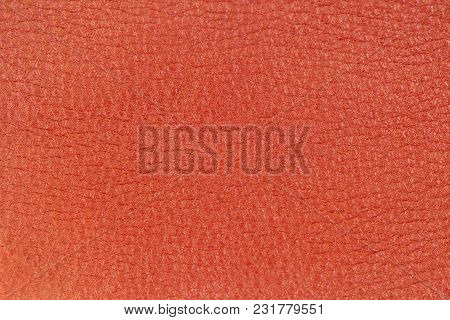 Genuine Leather Texture, Bright Red Color. Shopping, Manufacturing Concept. Modern Background, Backd