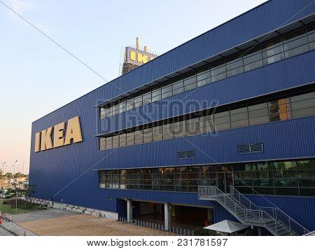 Bangna, Samutprakarnthailand Mar 2, 2018 : The Ikea Store Of Thailand At Mega Bangna Shopping Mall