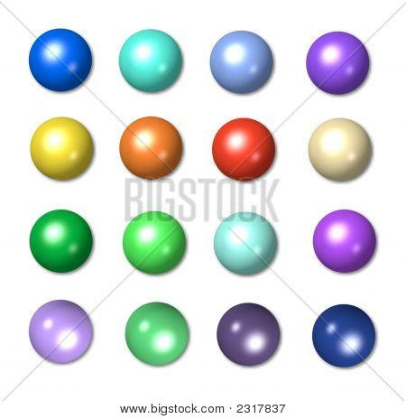 Round Colorful Balls, Icons