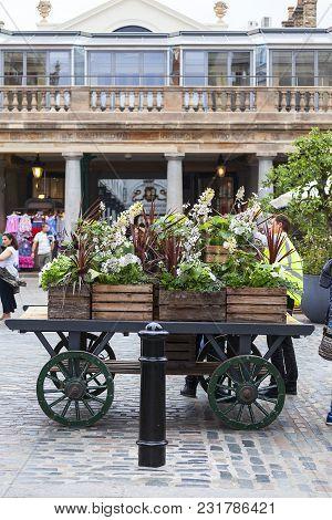 London, United Kingdom - June 22, 2017: Covent Garden Market, Popular Shopping And Tourist Site, Flo