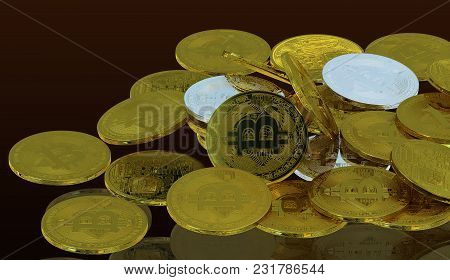 Bitcoin 3d Rendering Investment Profit Concept Isolated Background Include Clipping Path For Illustr