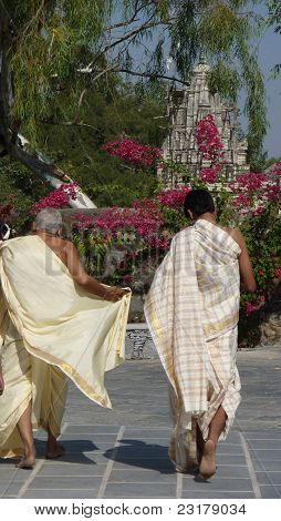 Indian Visitors Tour The Jain Temple