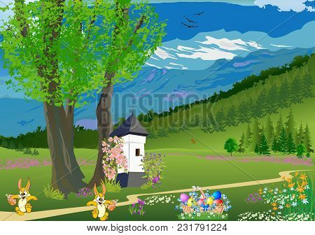 Landscape With A Small Chapel Under A Tree