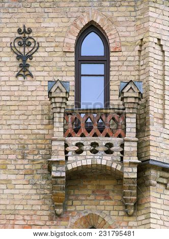 Window And Balcony Of An Old House In Vilnius, Lithuania
