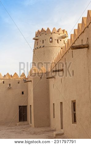 Al Ain, Uae - April 8, 2006: The Interior Of The Iconic Al Jahli Fort In Al Ain, The Largest Inland