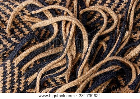 Gray Brown Texture From A Piece Of Woolen Blanket