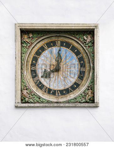 Old Clock Of The Church Of The Holy Spirit, Tallinn, Estonia