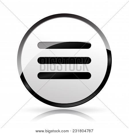 Illustration Of Menu Expand Icon On White Background