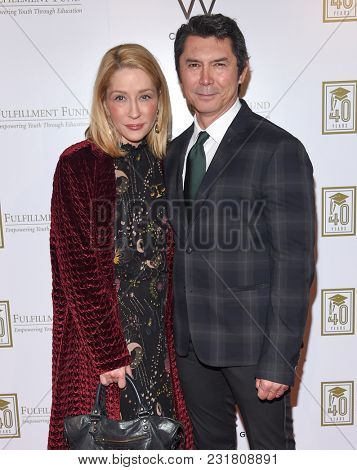 LOS ANGELES - MAR 13:  Lou Diamond Phillips and Yvonne Boismier arrives for the A Legacy of Changing Lives Gala on March 13, 2018 in Hollywood, CA