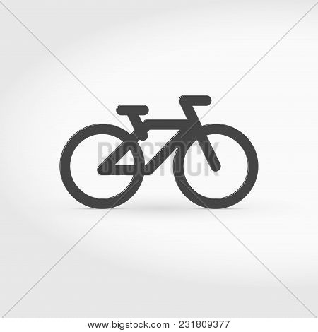 Bike Or Bicycle Simple Icon. Single Bike Icon Isolated On White. Vector Illustration. Bicycle Pictog