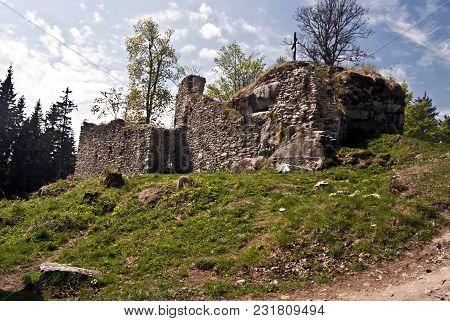 Ruins Of Vitkuv Hradek - Highest Castle In Czech Republic - In Sumava Mountains Near Lipno Water Res