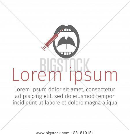 An Anesthetic Injection In The Gum. Stomatology Single Icon Vector Illustration.